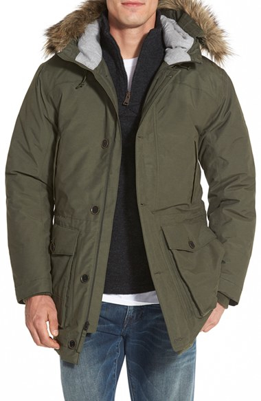 Timberland 'scar Ridge' Waterproof Down Parka With Faux Fur Trim ...