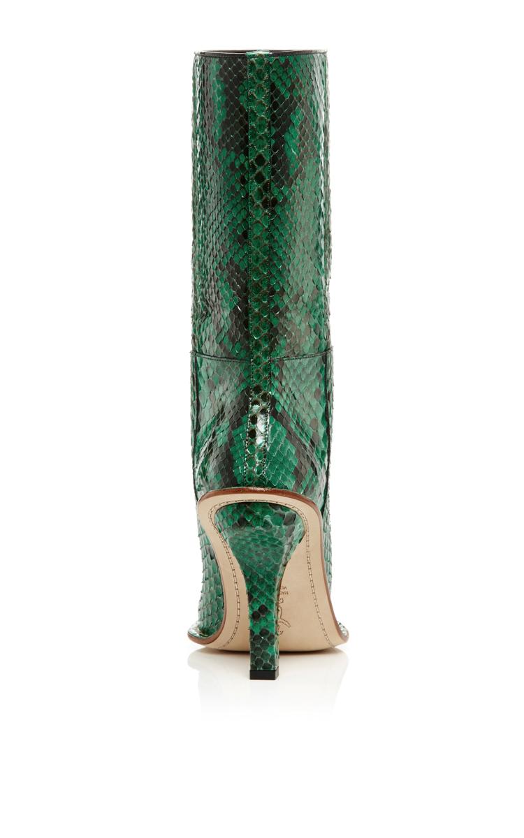 Marni Green Python Mid Calf Boots in Green