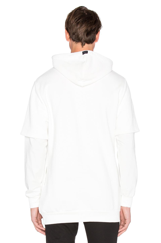 8e37f008fcc4 Lyst - I Love Ugly Hooded Split Sweater in White for Men