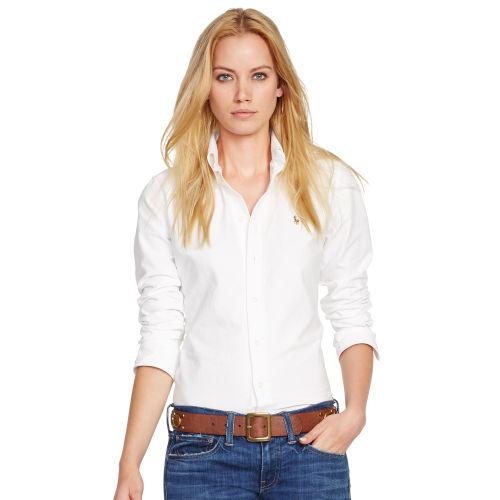 Polo Ralph Lauren Customfit Oxford Shirt In White Lyst