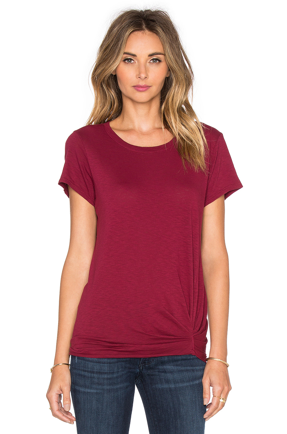 Michael stars short sleeve crew neck tee in red lyst for Michael stars tee shirts