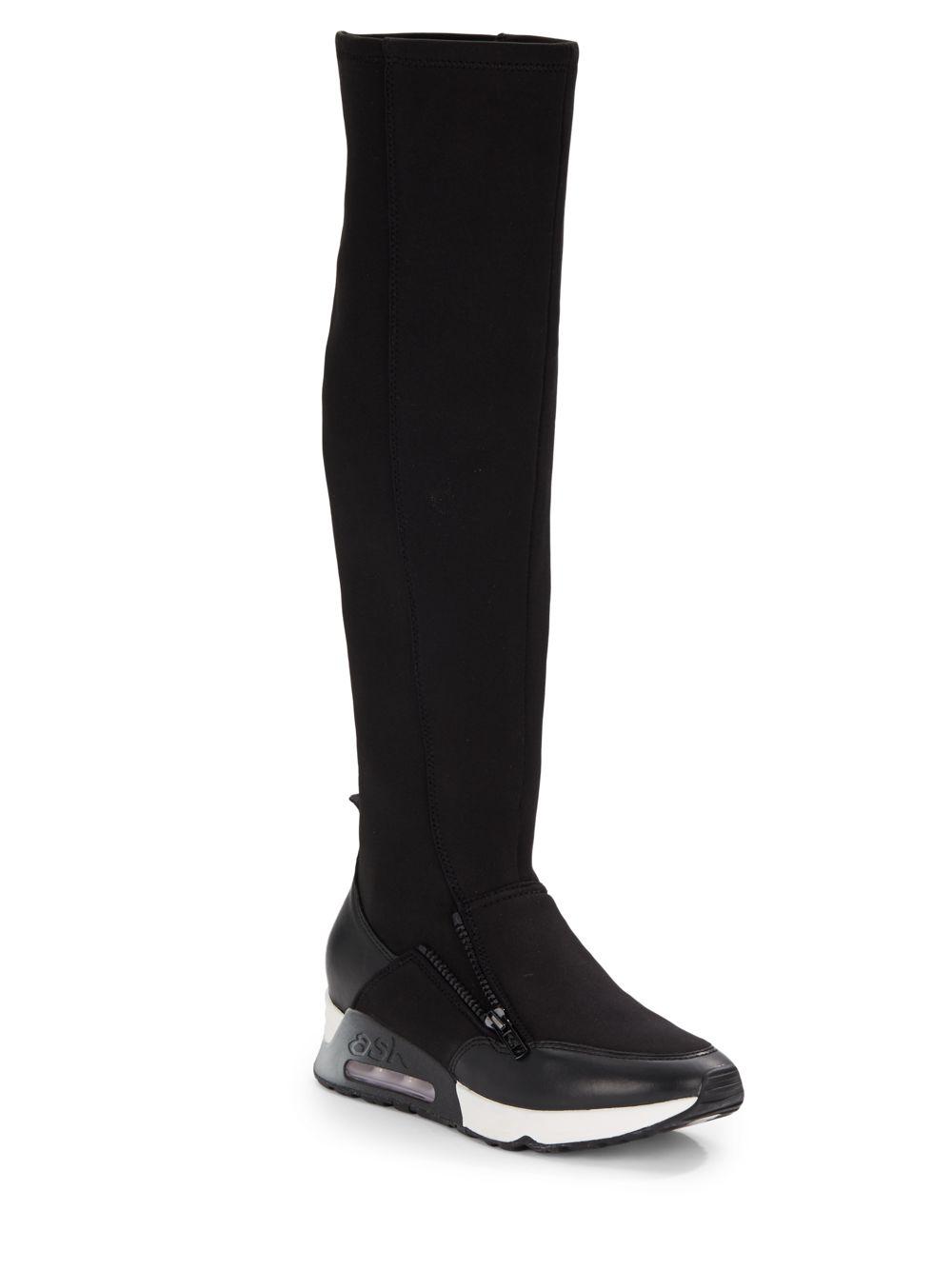 Lyst Ash Lynx Knee High Sneaker Boots In Black