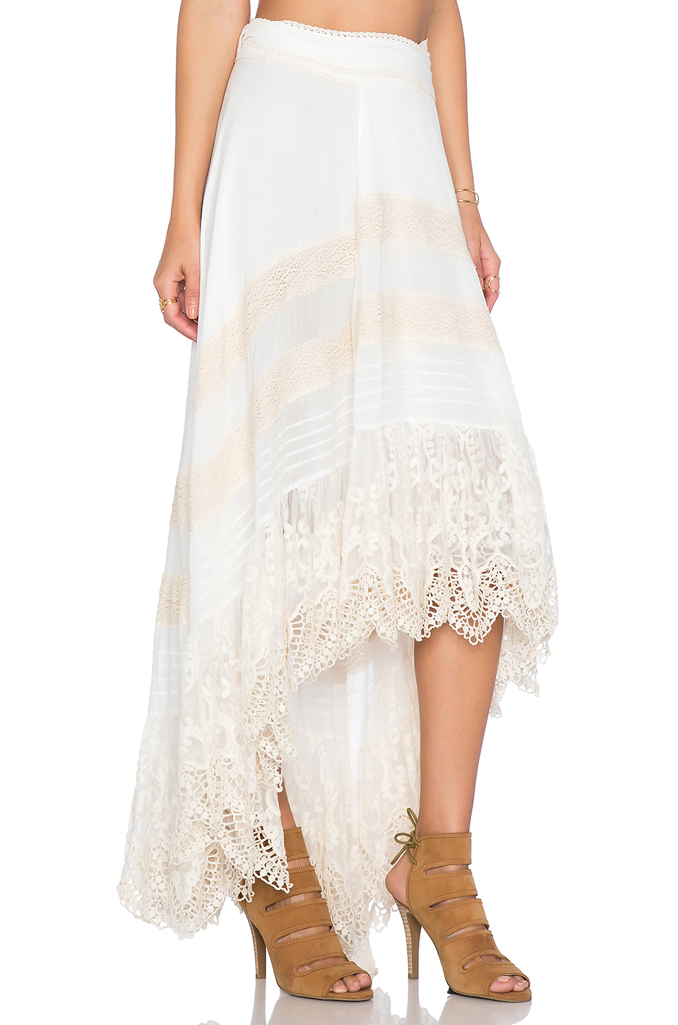 Super Lyst - Spell & The Gypsy Collective Peasant Girl Wrap Skirt in White XV76