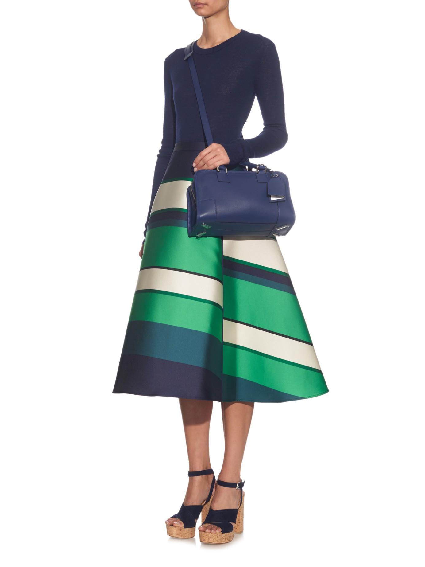 Lyst Loewe Amazona 28 Leather Cross Body Bag In Blue