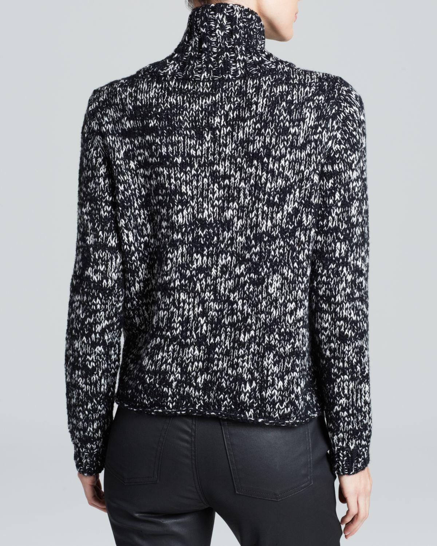 Lyst Eileen Fisher Marled Turtleneck Sweater In Black