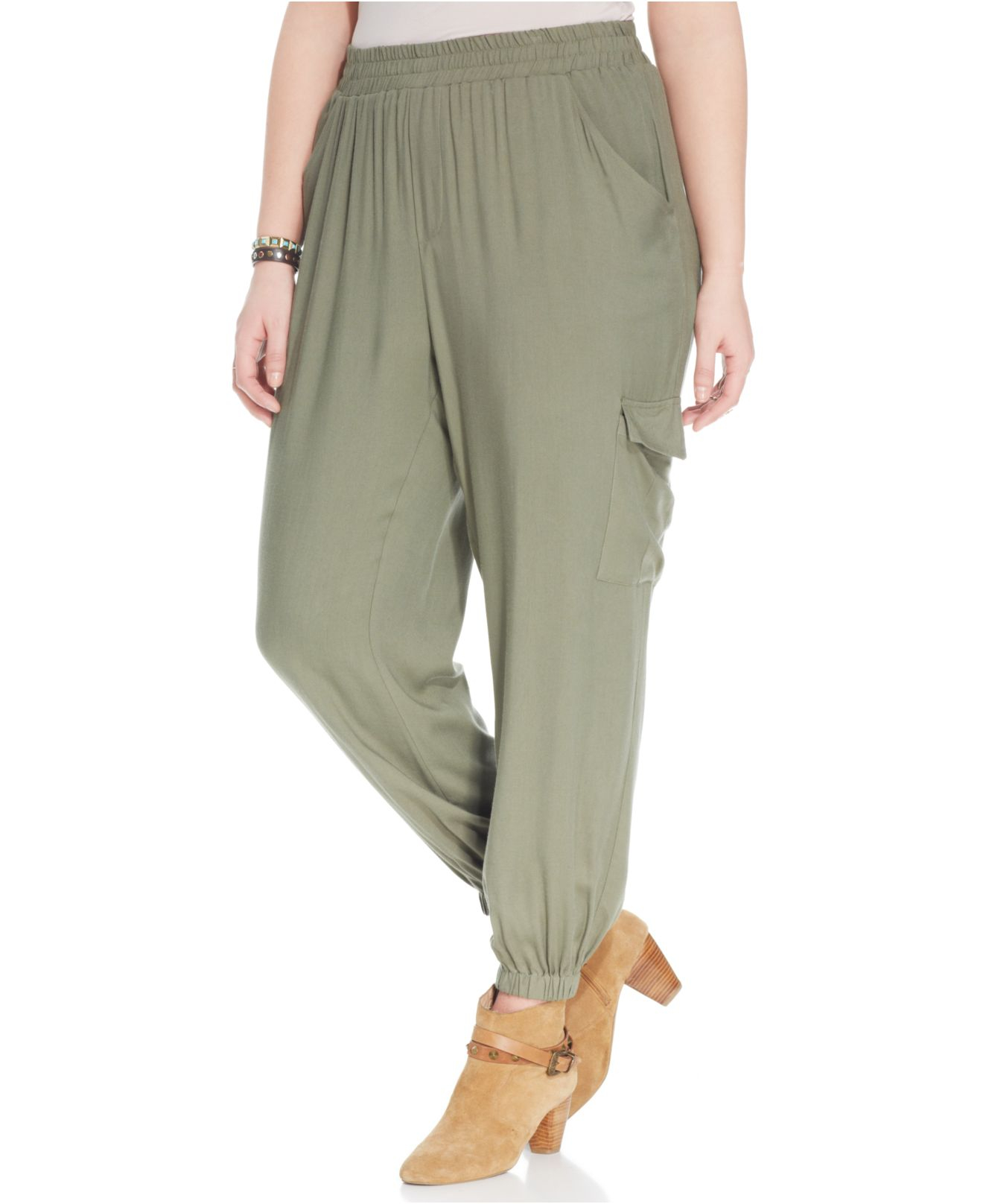 3d75f63a5f3f13 American Rag Plus Size Relaxed-Fit Cargo Soft Pants in Green - Lyst