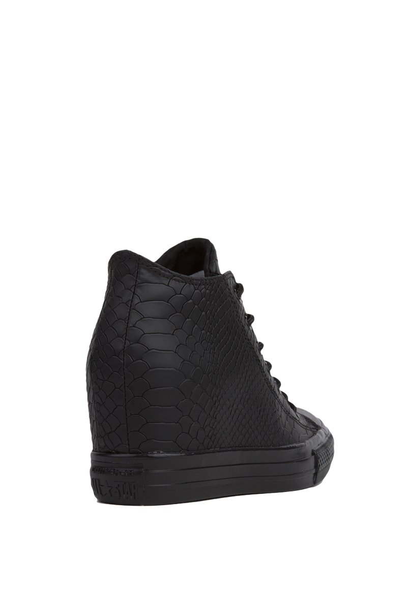 68f3e899abfb Lyst - Converse Chuck Taylor All Star Lux Embossed Reptile Mid Top ...