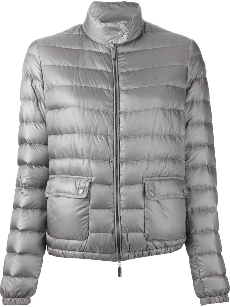 7fc3c1386dba ... clearance moncler lans quilted jacket in gray lyst fe963 5d28c