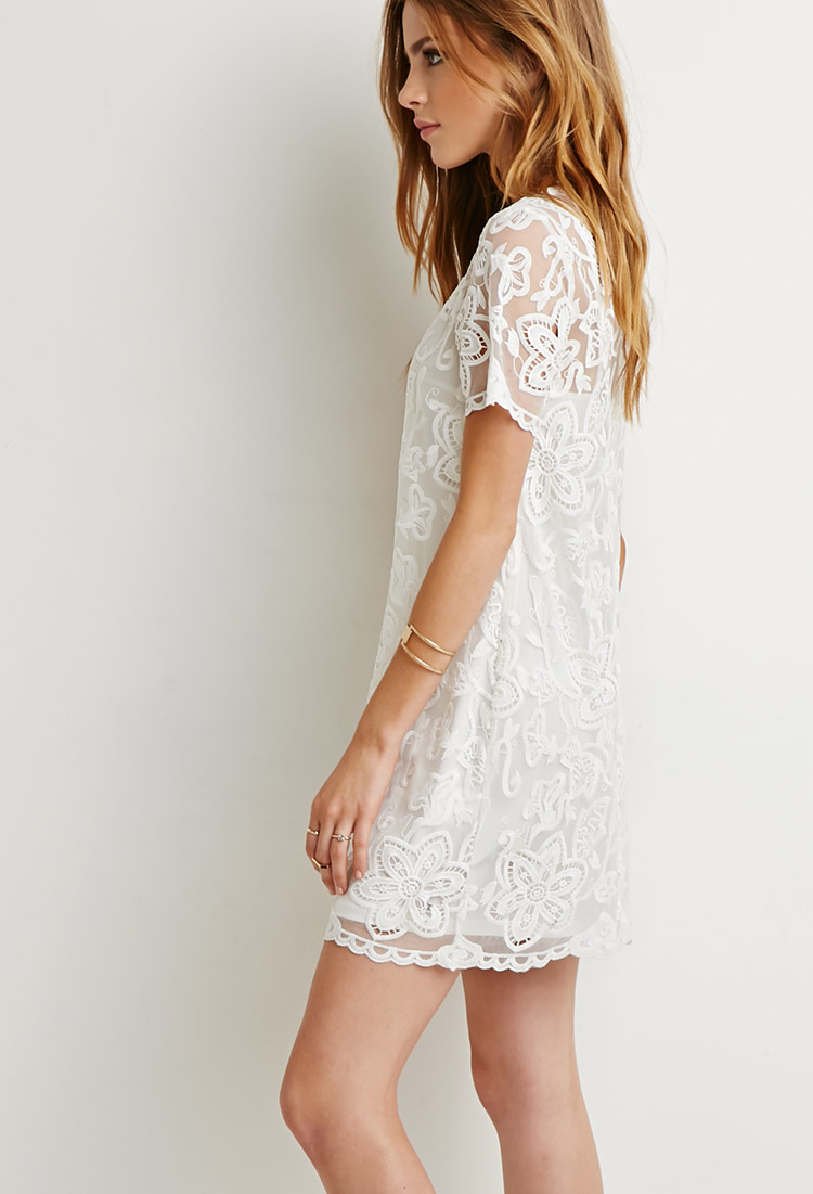 ae762495fb Embroidered Shift Dress Forever 21 - Dress Foto and Picture