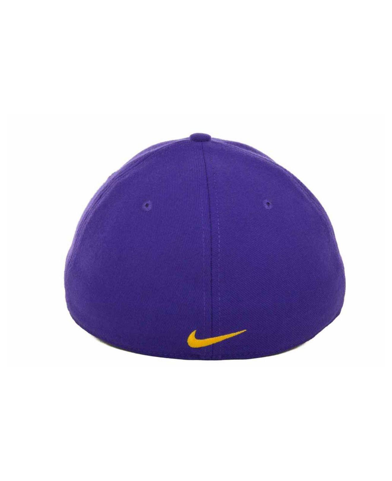 1068436214e ... where can i buy lyst nike lsu tigers drifit swooshflex cap in purple  for men 790d1