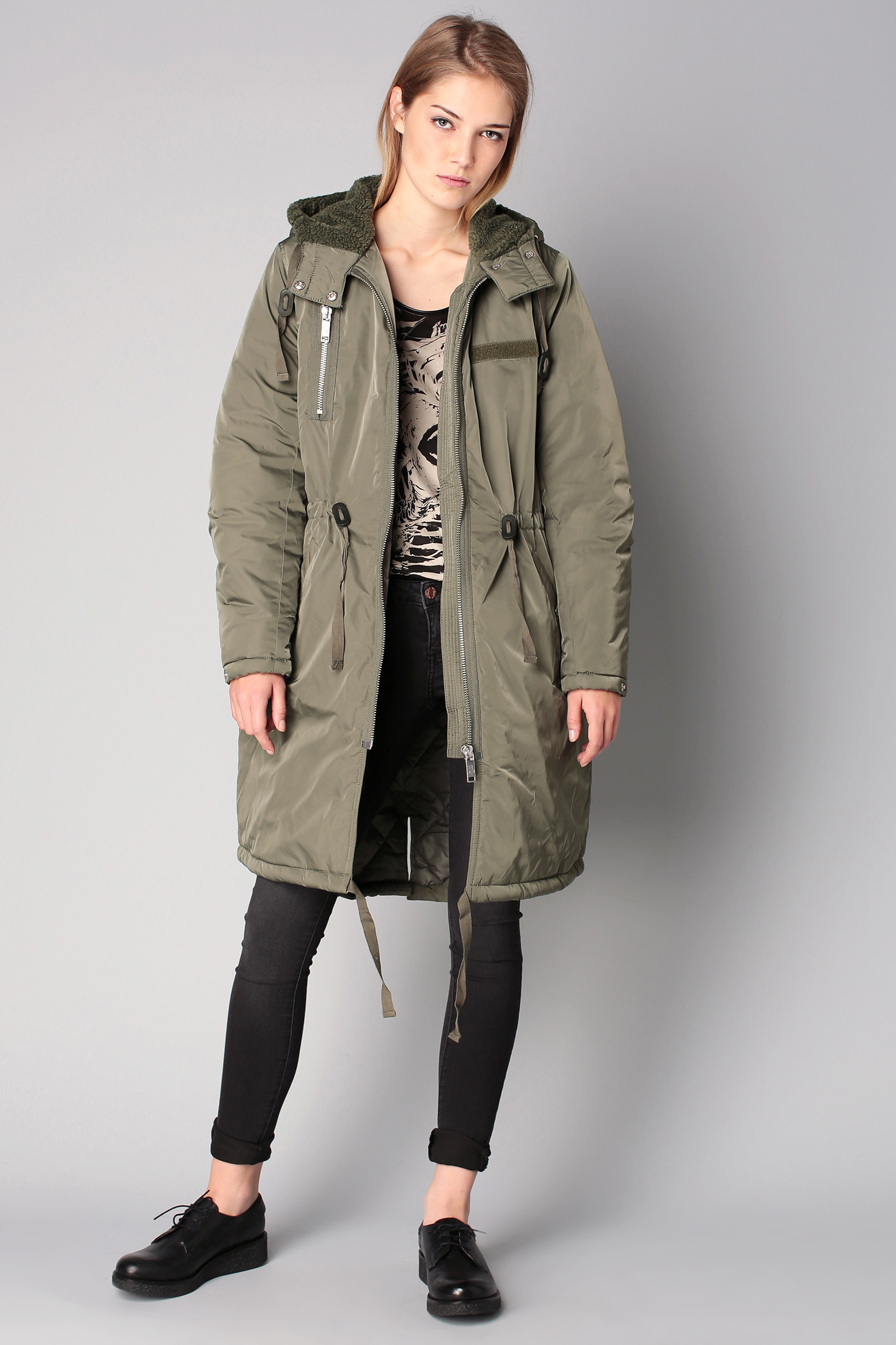 Cheap monday Trench / Parka in Green   Lyst