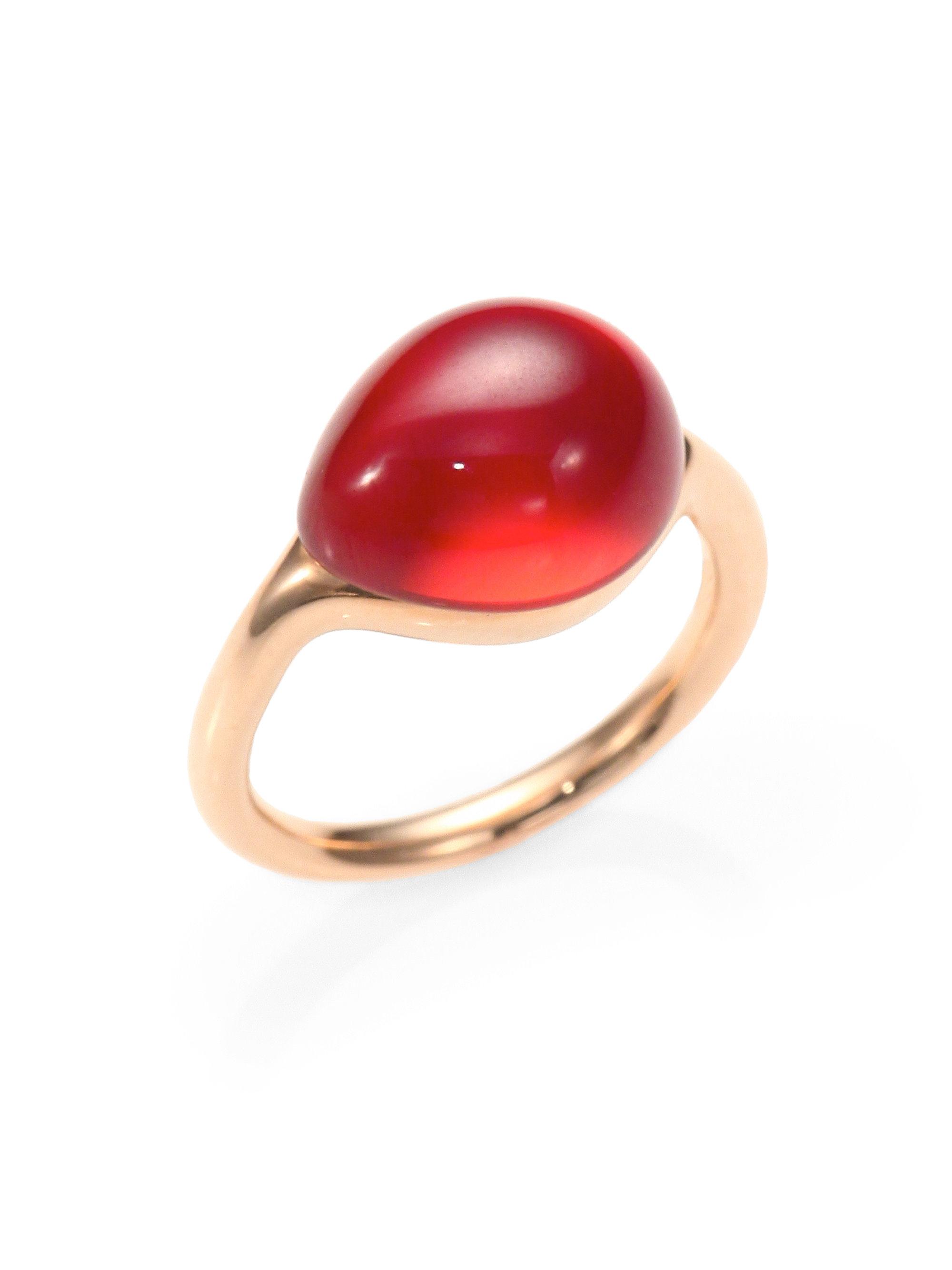 Pomellato Cabochon Ring In Red Lyst