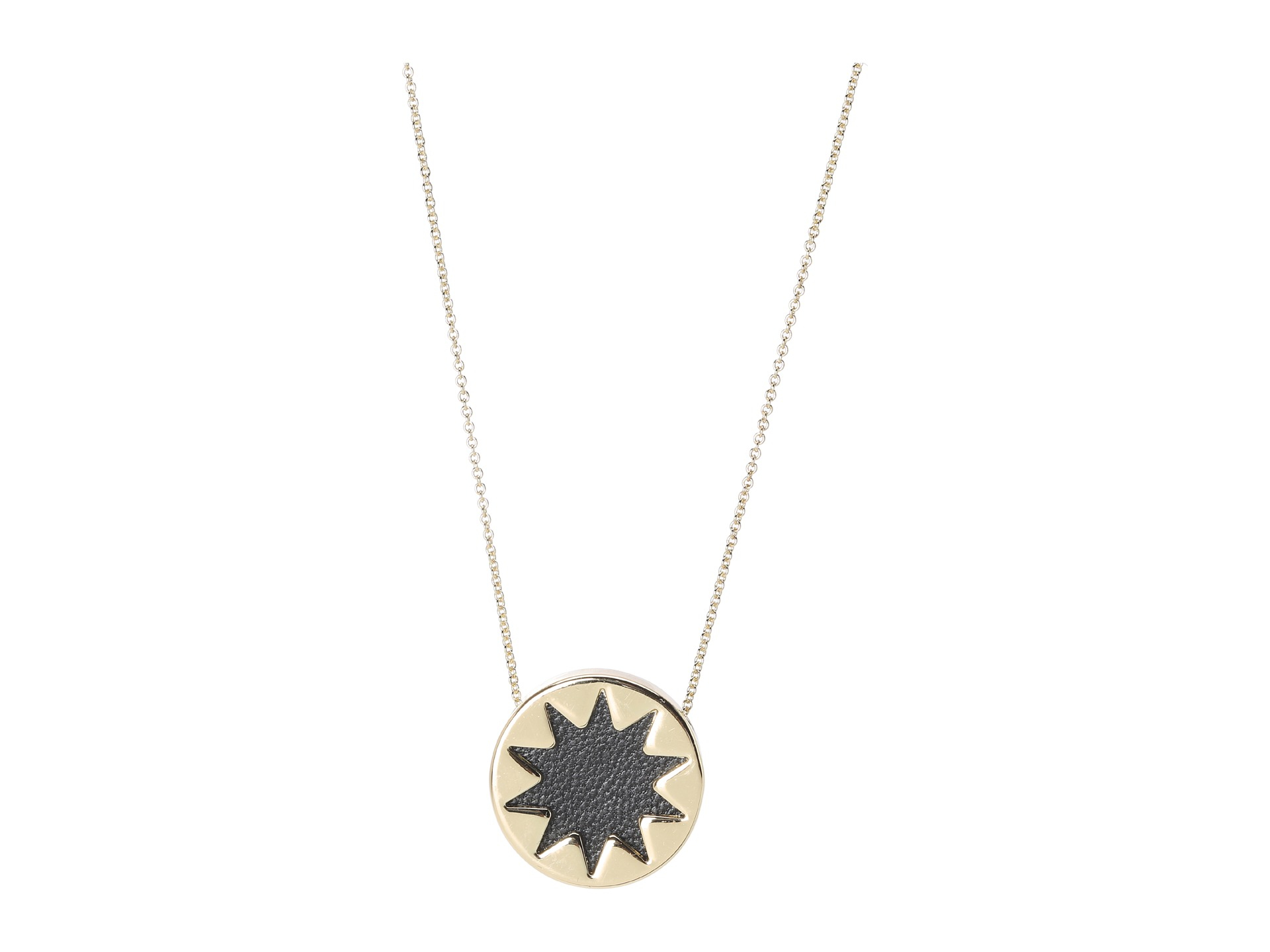 house of harlow 1960 mini sunburst pendant necklace in