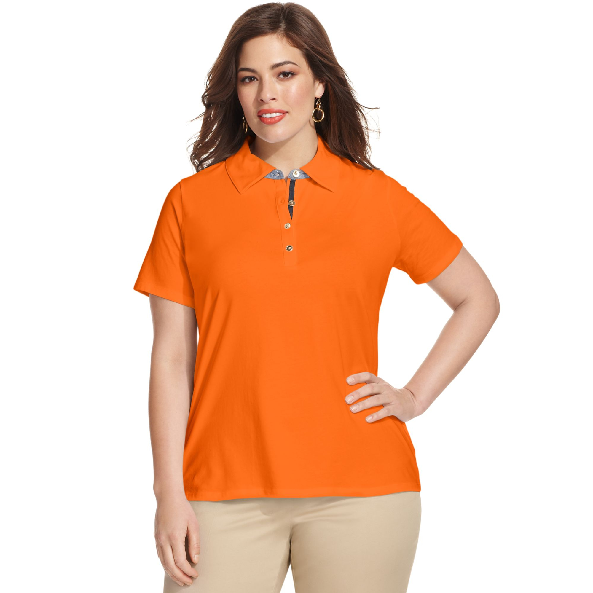 Jones New York Signature Plus Size Shortsleeve Polo Shirt