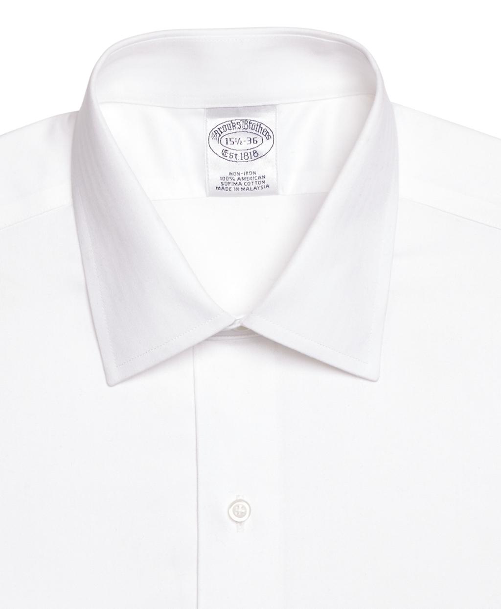 Brooks brothers non iron regent fit herringbone dress for White herringbone dress shirt