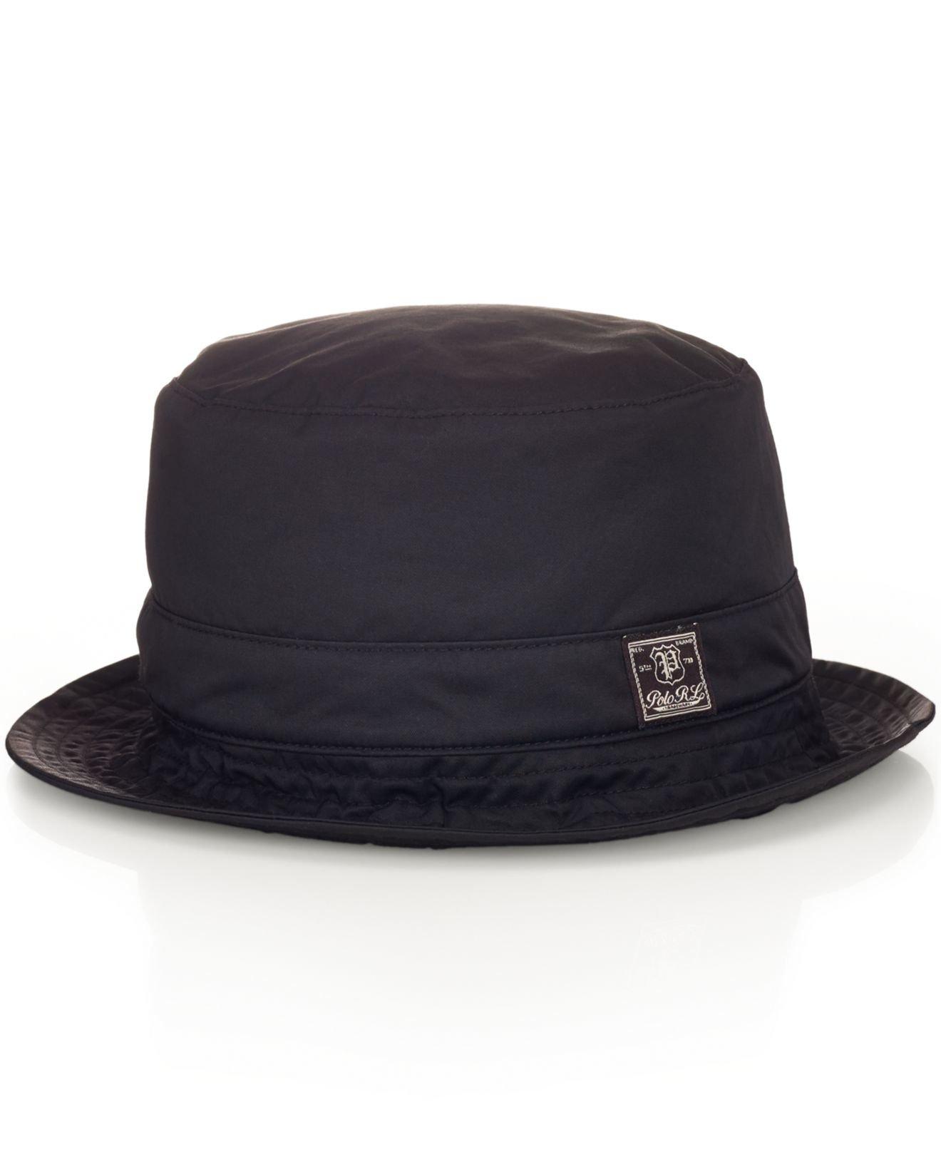 04eb426b9bf7b Polo Ralph Lauren Twill Bucket Hat in Black for Men - Lyst