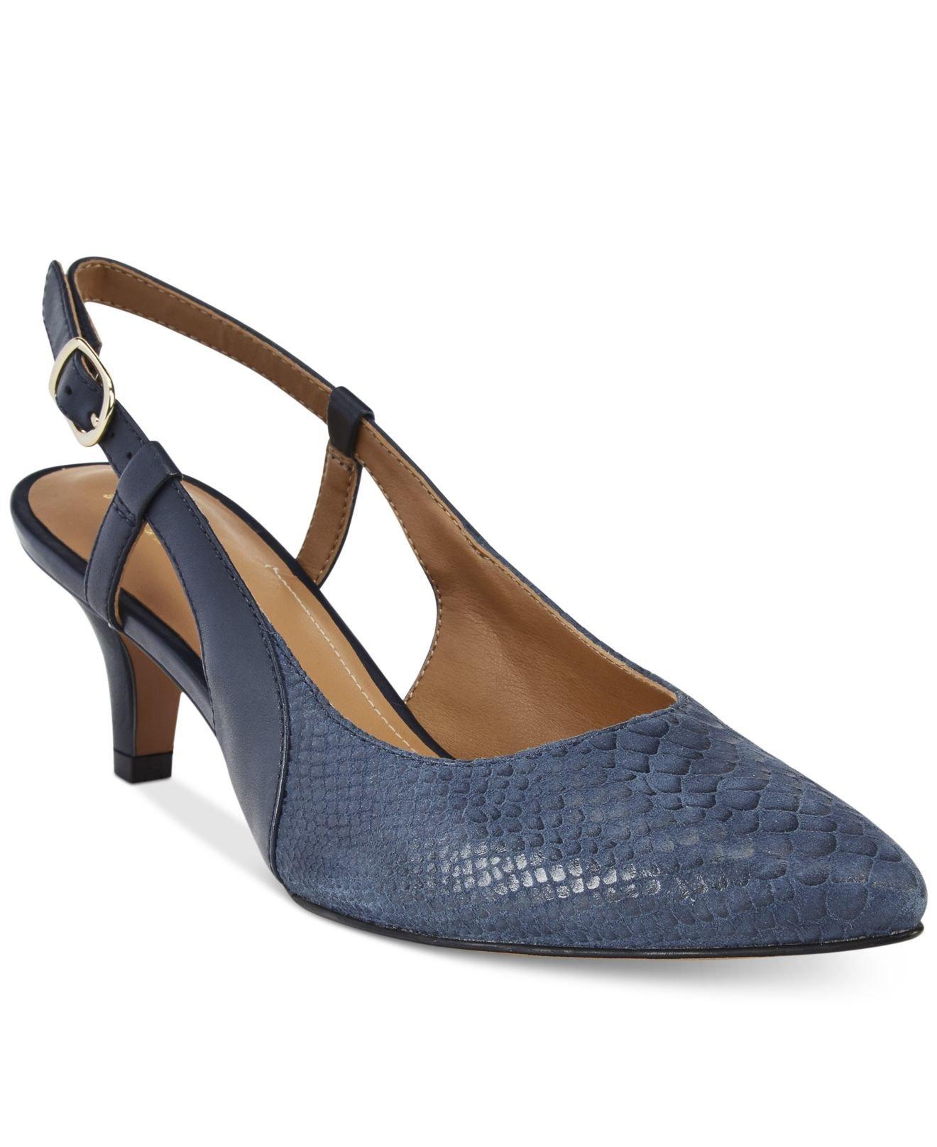 Slingback Navy Blue Shoes