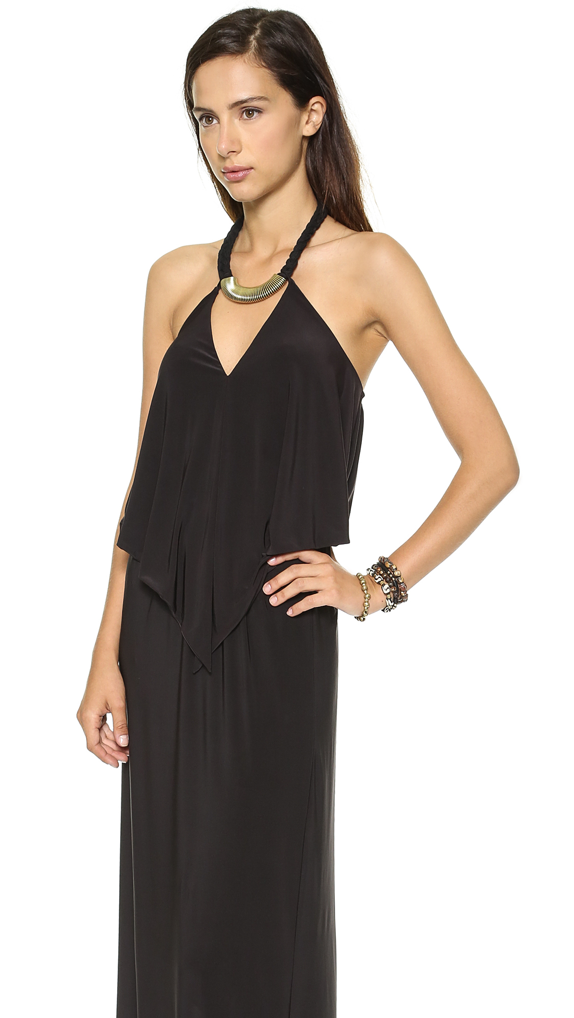 T-bags Convertible Maxi Dress with Necklace