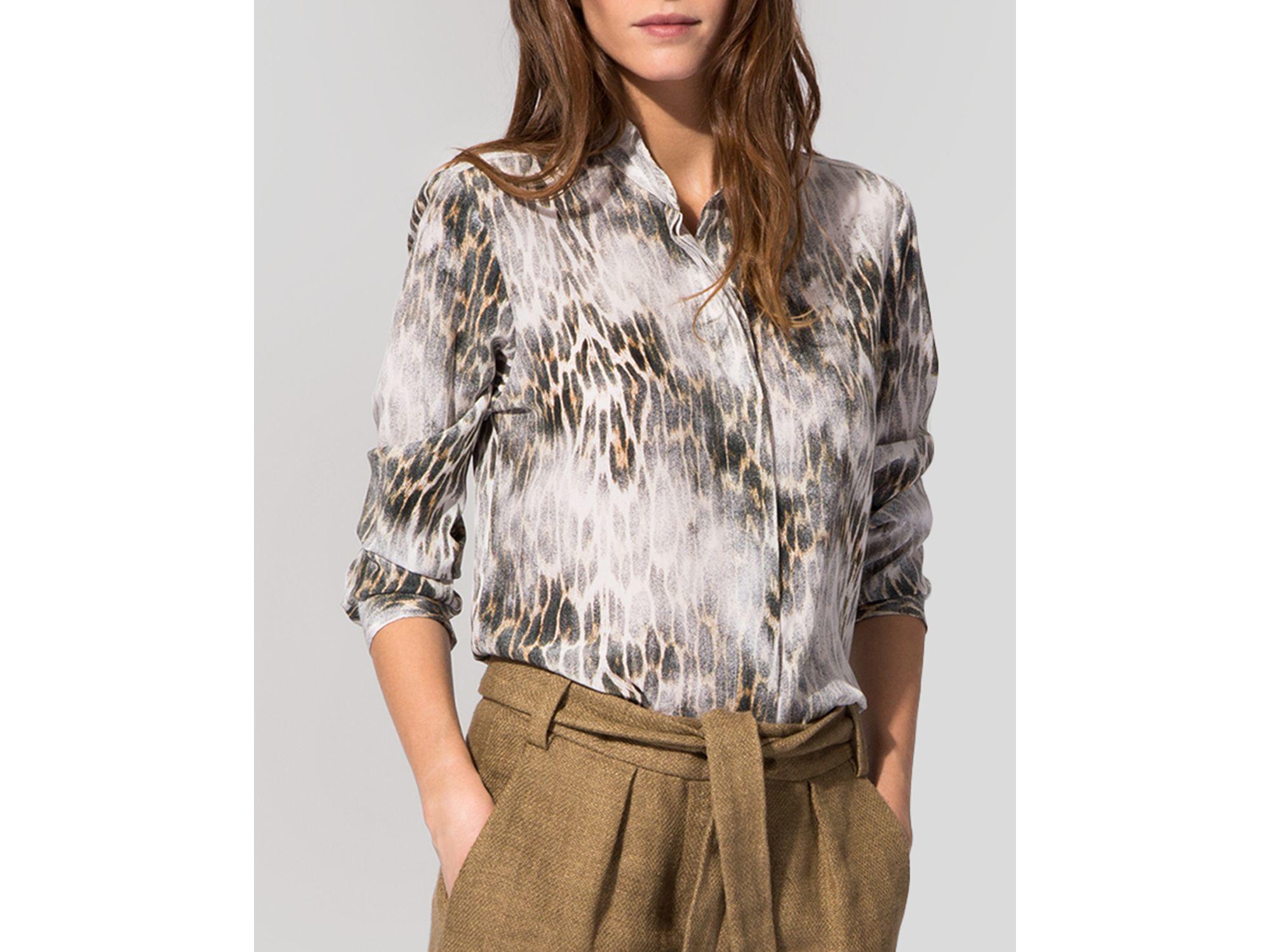 70369aa3d1d11 Lyst - Maje Shirt - Cameleon Print