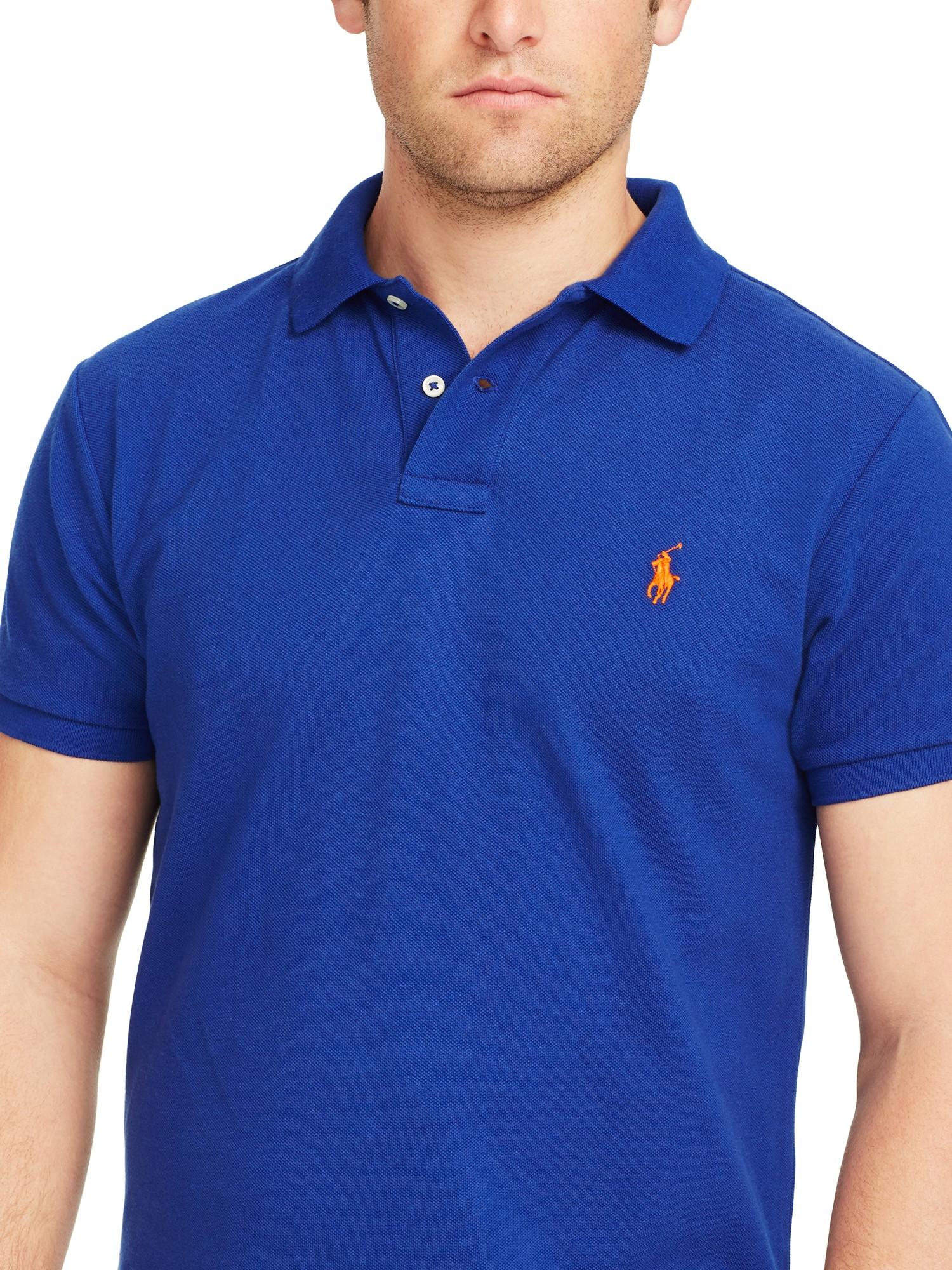 b94d3e30 Polo Ralph Lauren Custom Fit Polo Shirt Royal Blue | Azərbaycan ...
