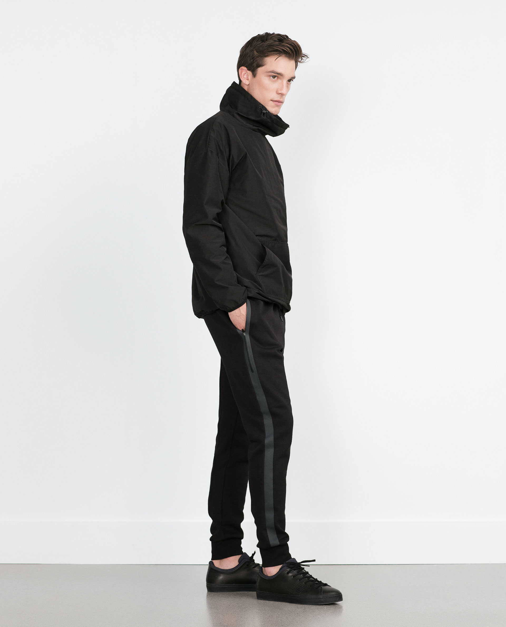Zara Jogging Pants in Black for Men | Lyst