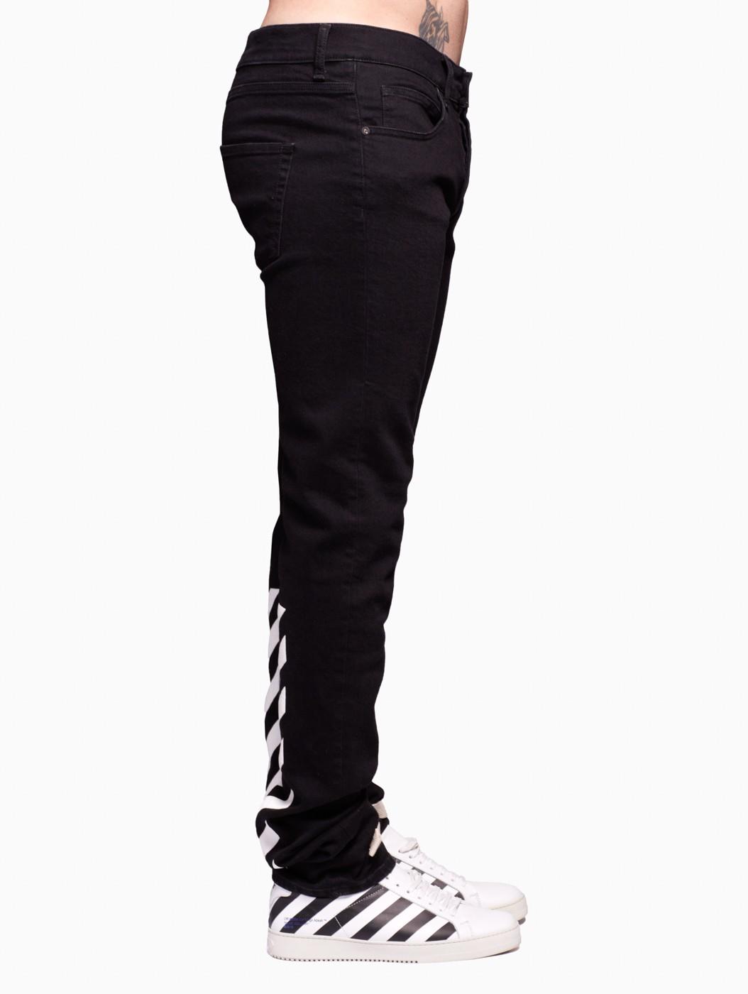 Off-white c/o virgil abloh Denim Pants in Black for Men | Lyst
