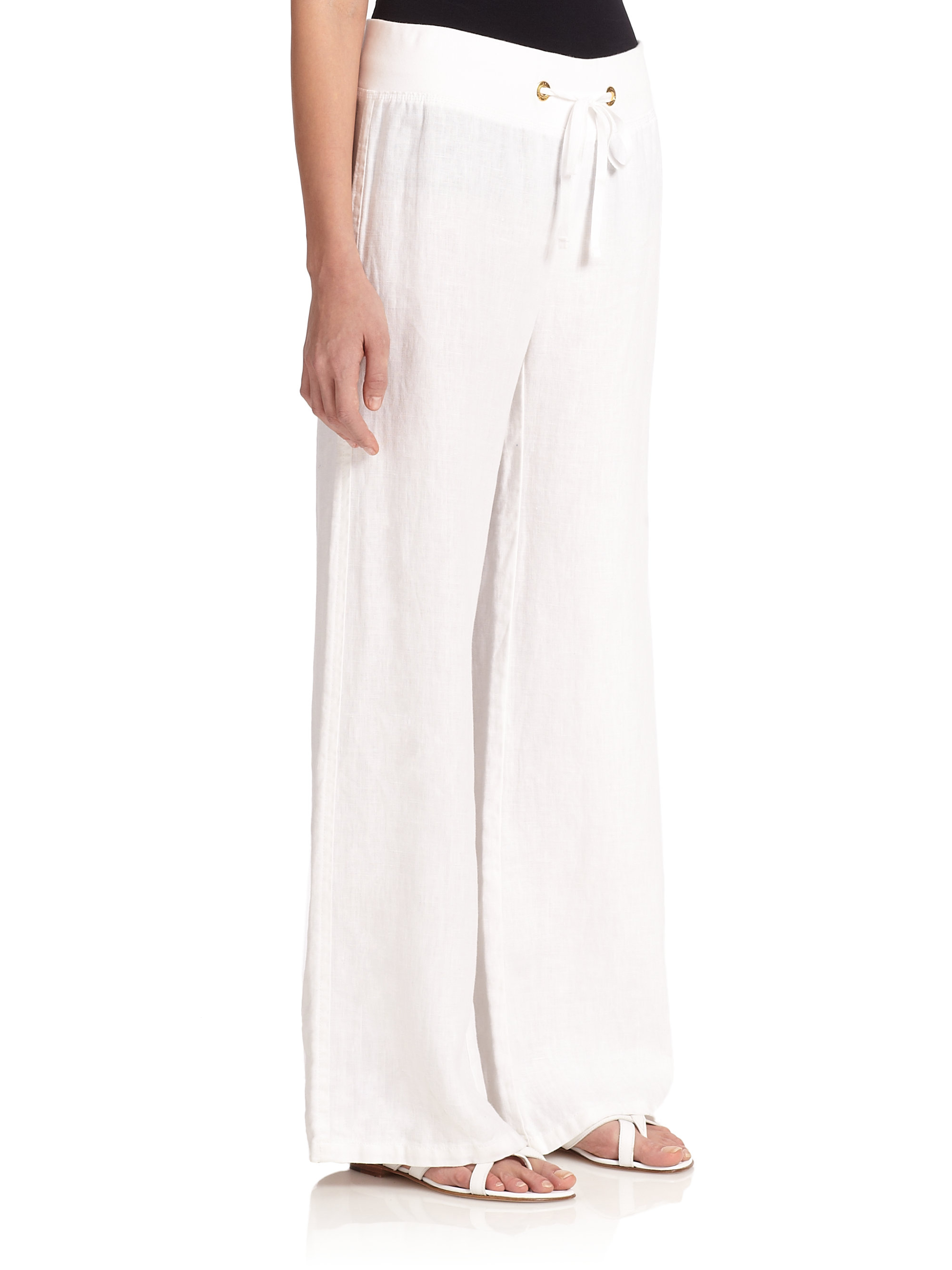 122eb5cd39139 Womens White Linen Beach Pants - Best Style Pants Man And Woman