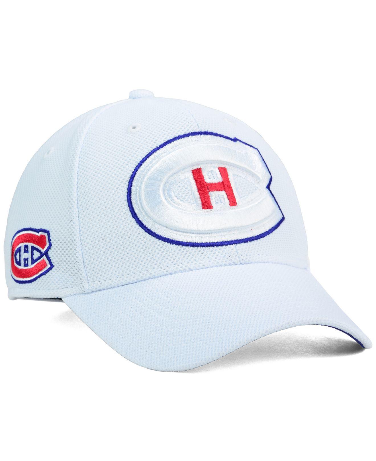 76bd6ffa77f Lyst - Reebok Montreal Canadiens 2nd Season Flex Cap in White for Men