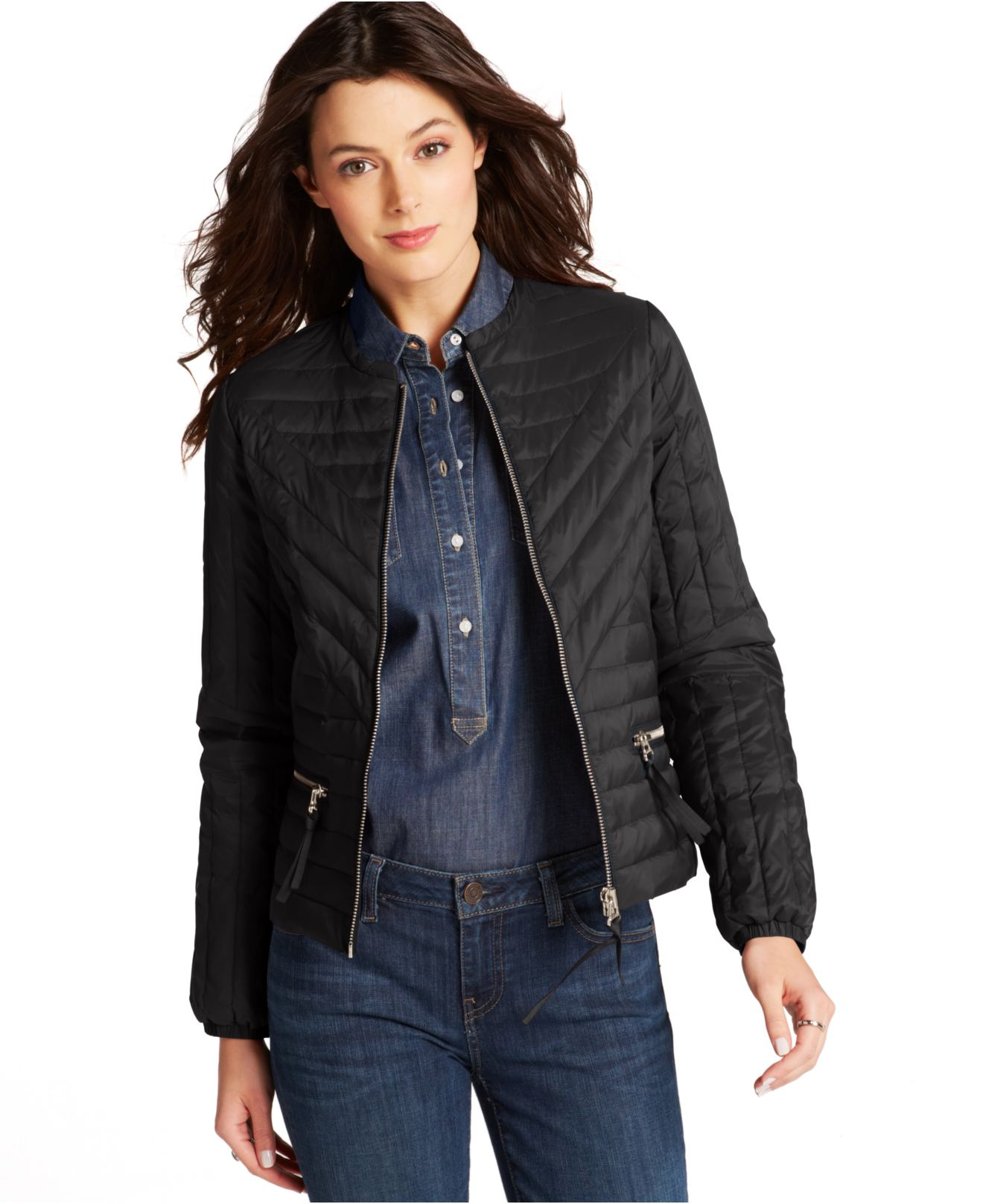 Tommy Hilfiger Quilted Jacket In Black | Lyst
