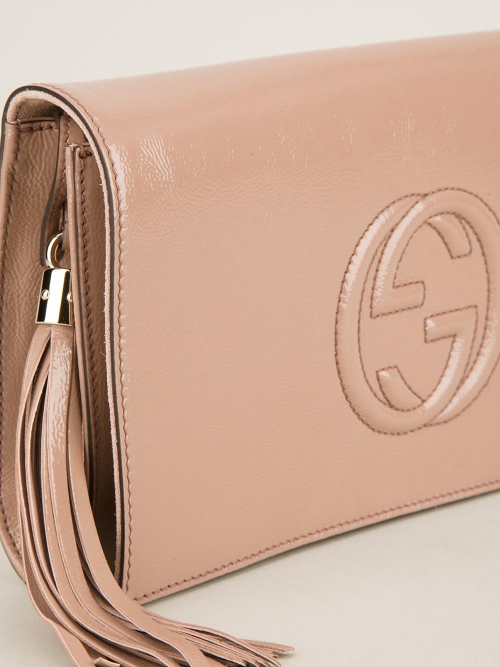 Lyst - Gucci Soho Clutch in Pink