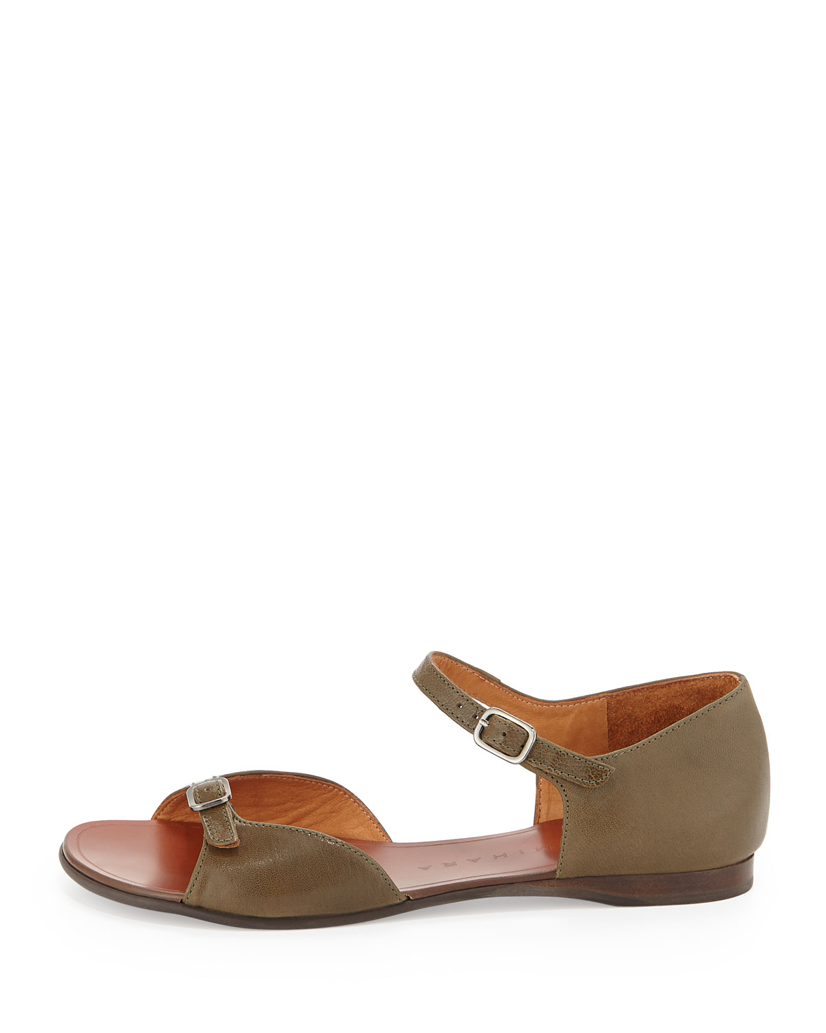 Chie mihara Endless Buckled Flat Sandal in Natural