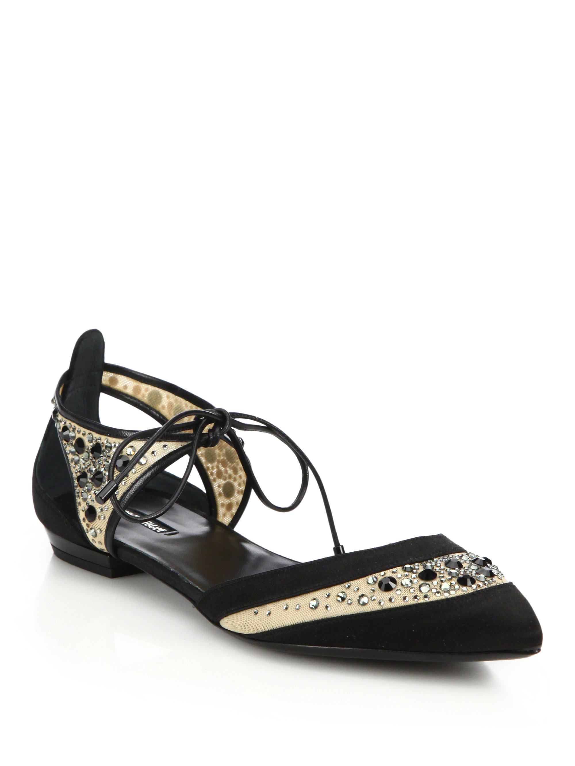 Black evening sandals flat - Gallery