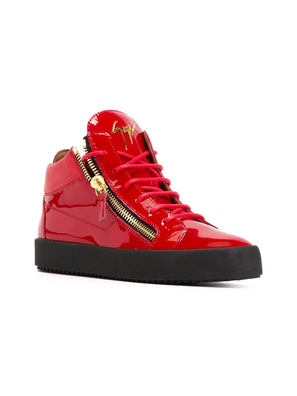 27375393b Giuseppe Zanotti 'vegas' Hi-top Sneakers in Red for Men - Lyst