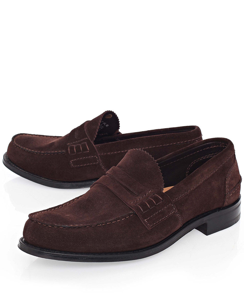5ff5093b0cc Lyst - Church s Brown Pembrey Suede Penny Loafers in Brown for Men