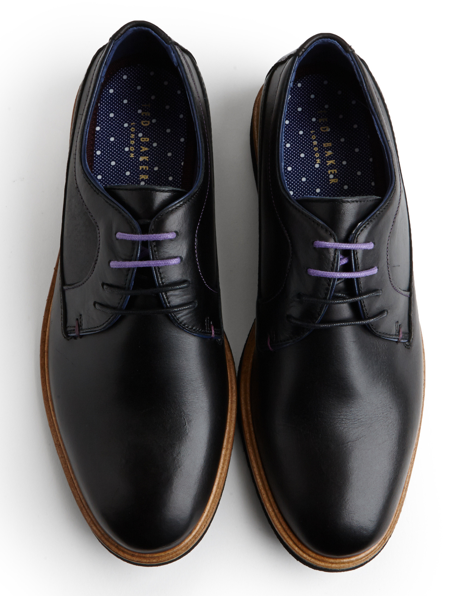 Mens Stylish Black Derby Shoes