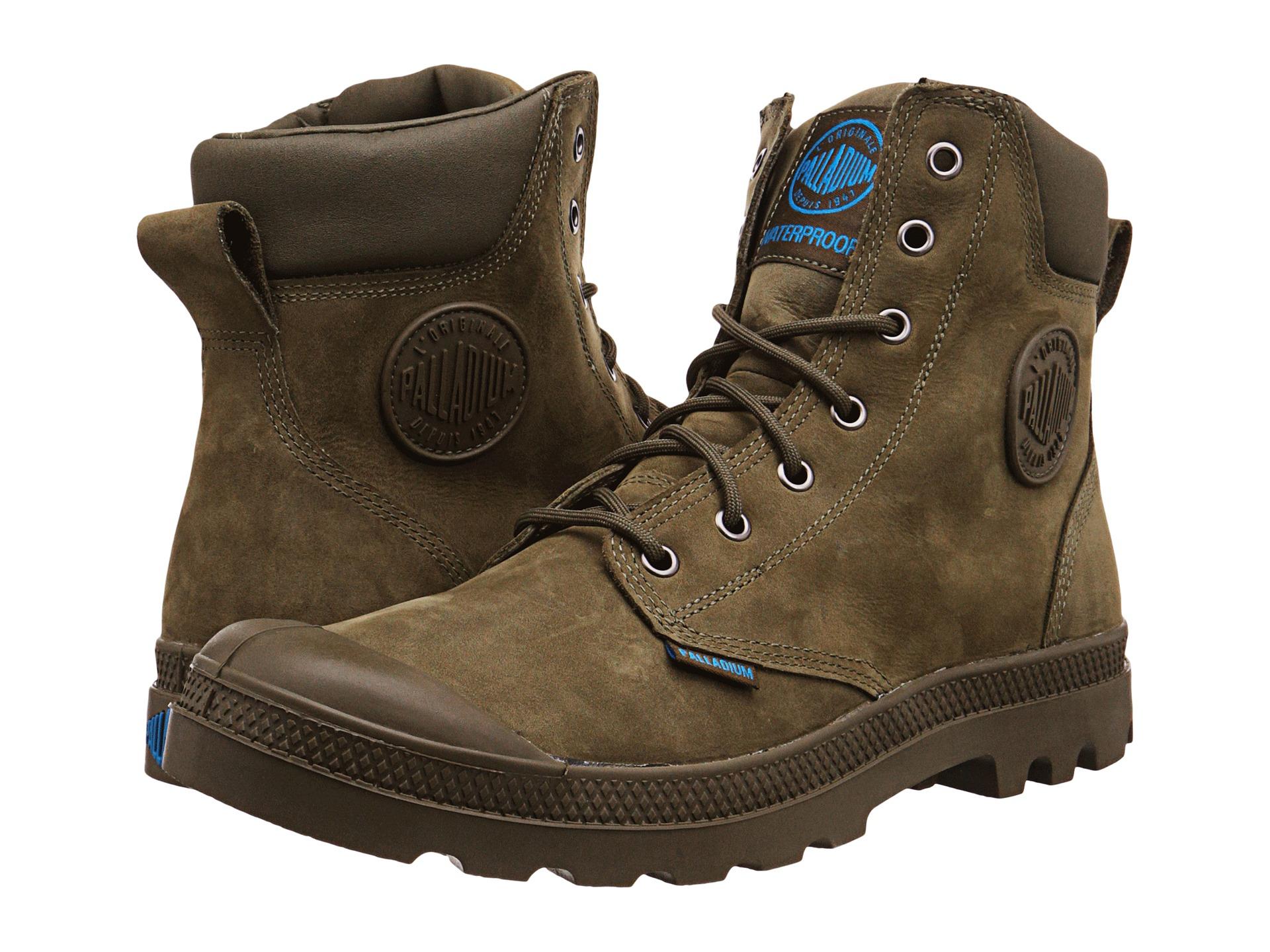 Womens Palladium Pampa Cuff Wp Lux Boots Olive Drab DUS79557