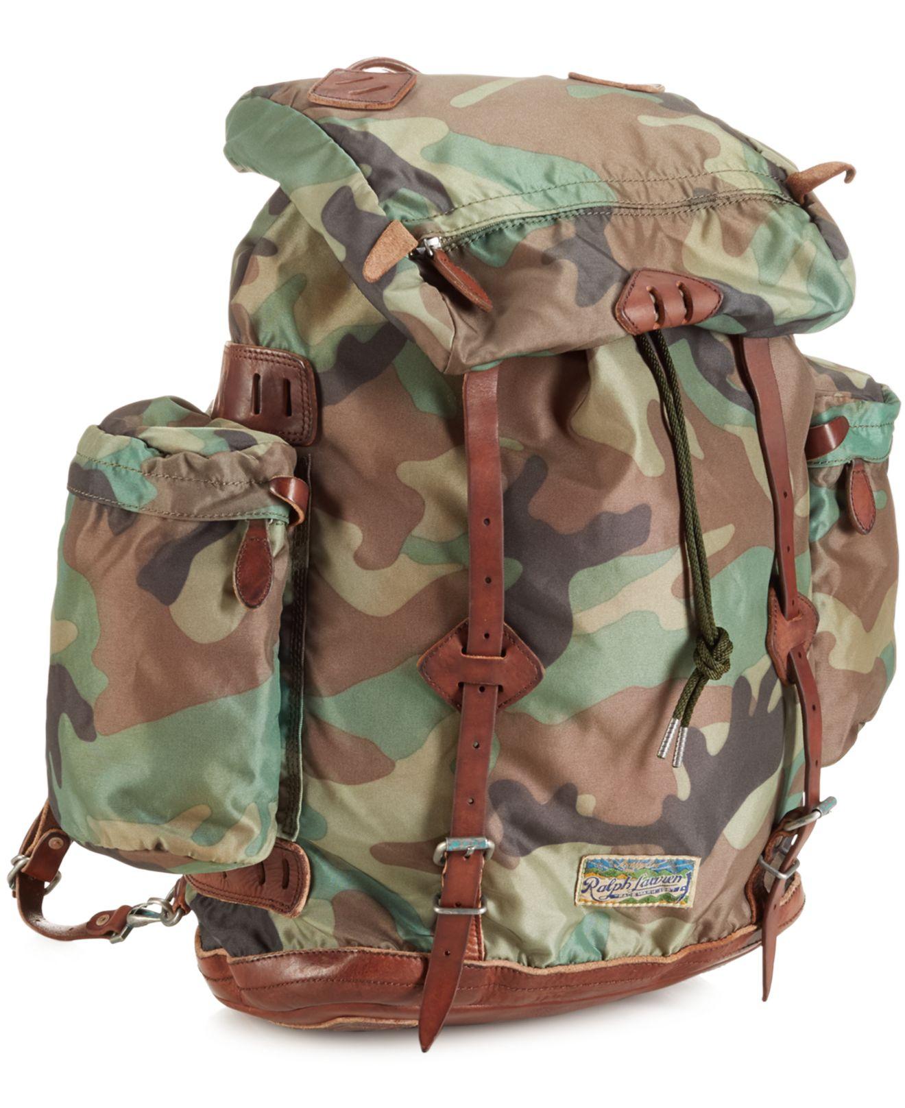 542458c8be31 Lyst - Polo Ralph Lauren Yosemite Nylon Camo Backpack in Green for Men