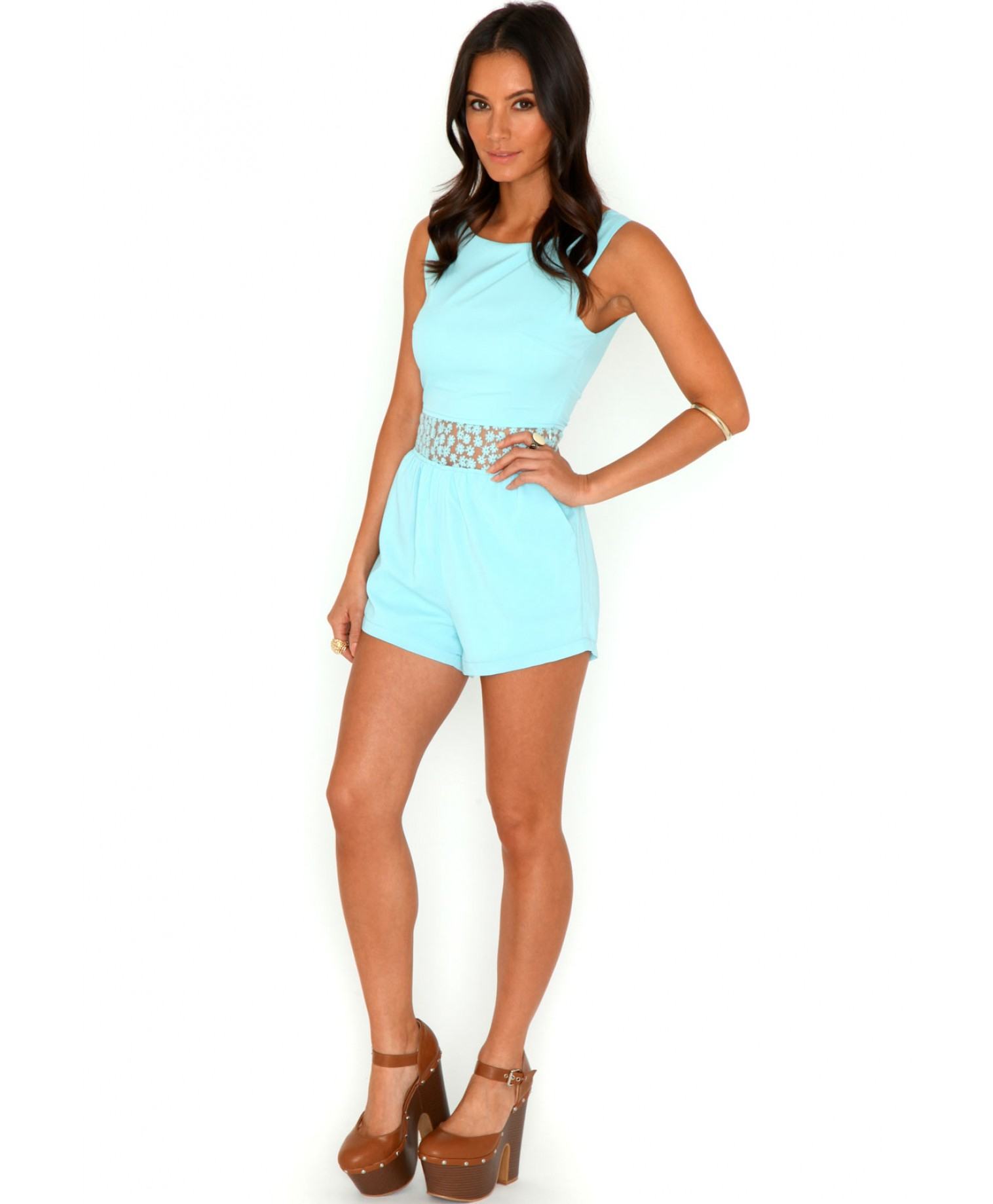 5f78bbb35289 Gallery. Women s Ruffle Playsuits Women s Halter Rompers Women s Lace  Jumpsuits ...
