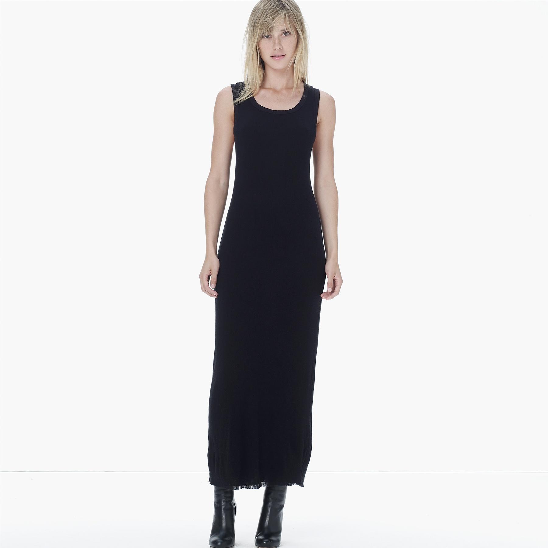 Black Cotton Tank Dress