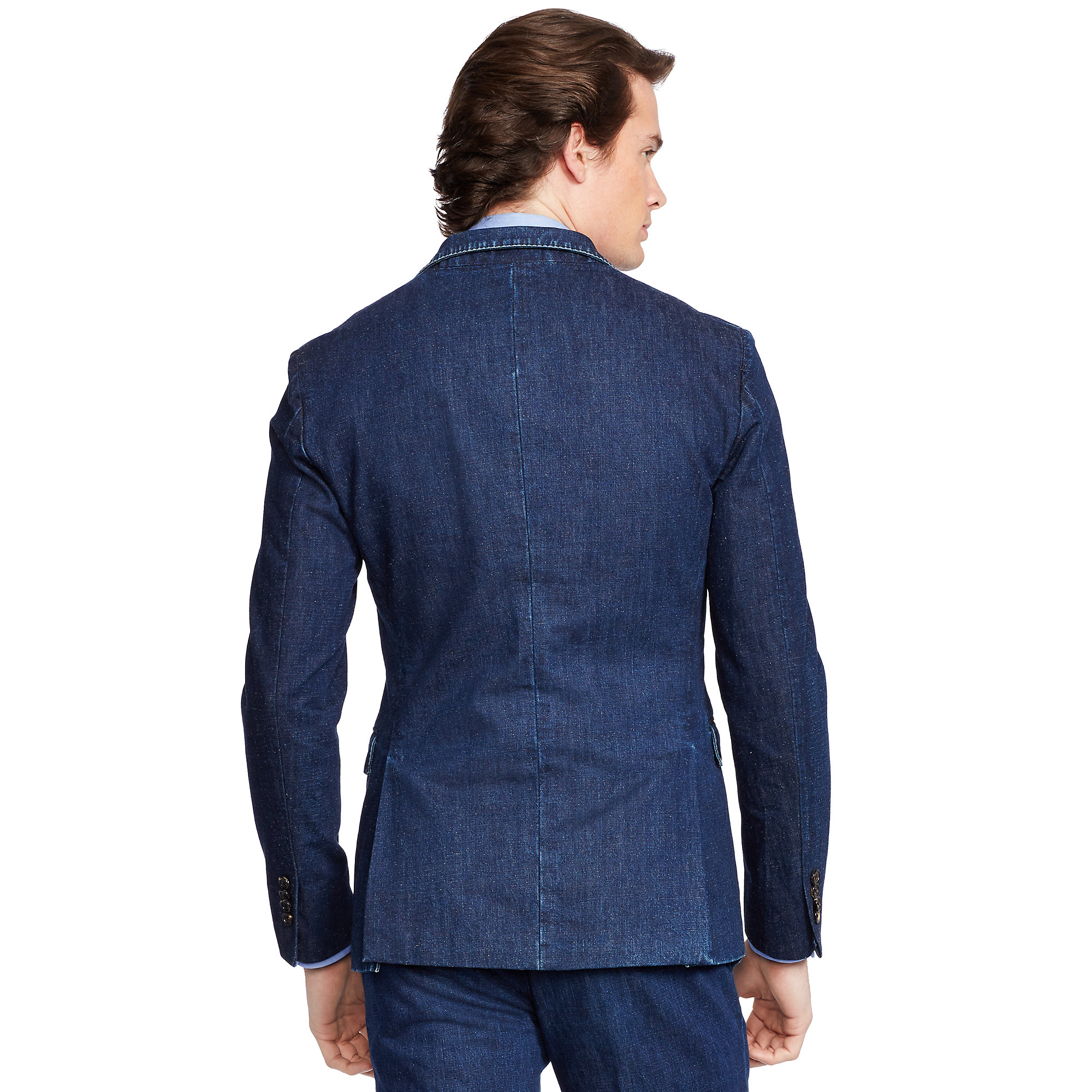 lyst polo ralph lauren morgan denim sport coat in blue. Black Bedroom Furniture Sets. Home Design Ideas