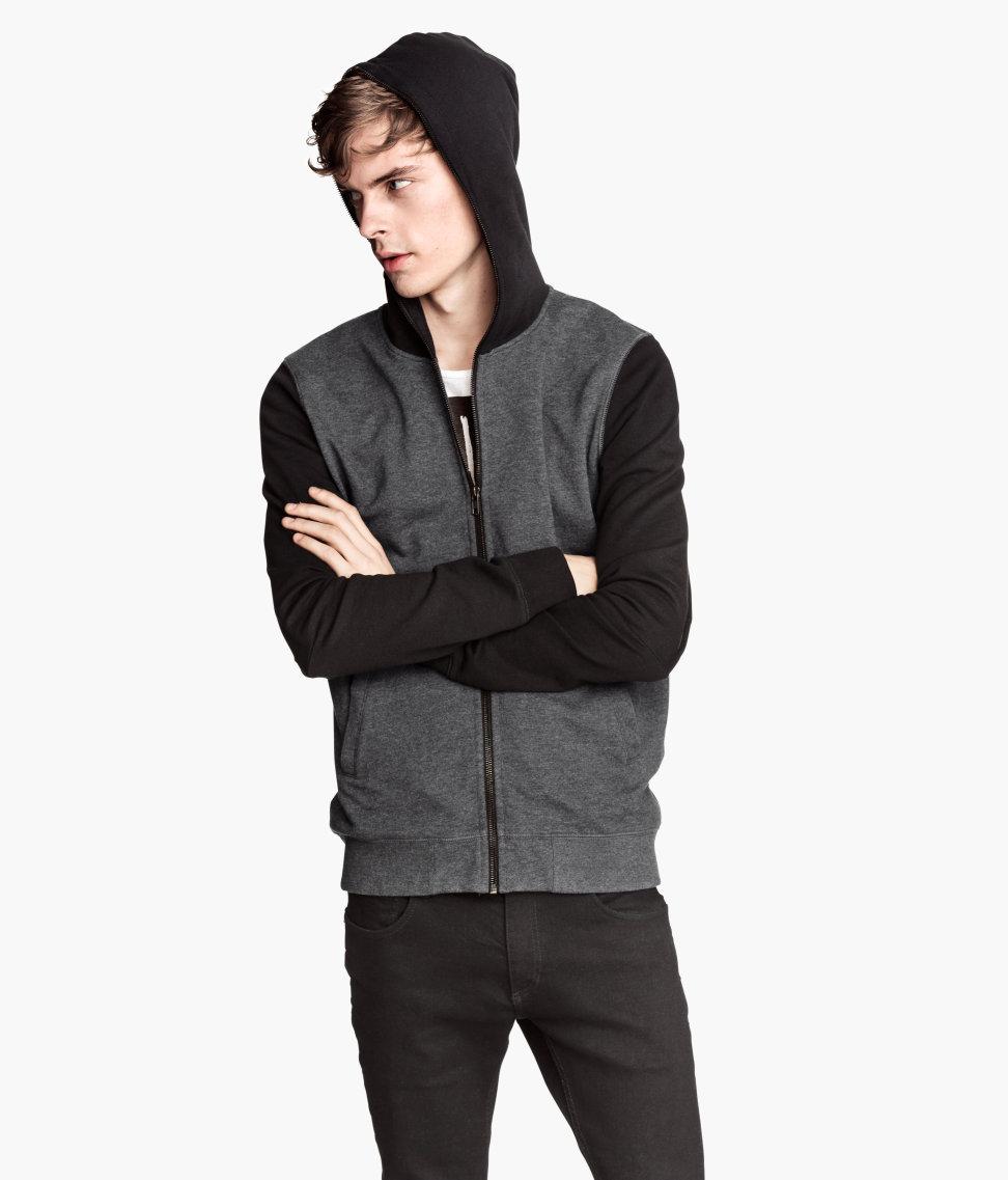 Lyst - H&M Hooded Jacket in Black for Men