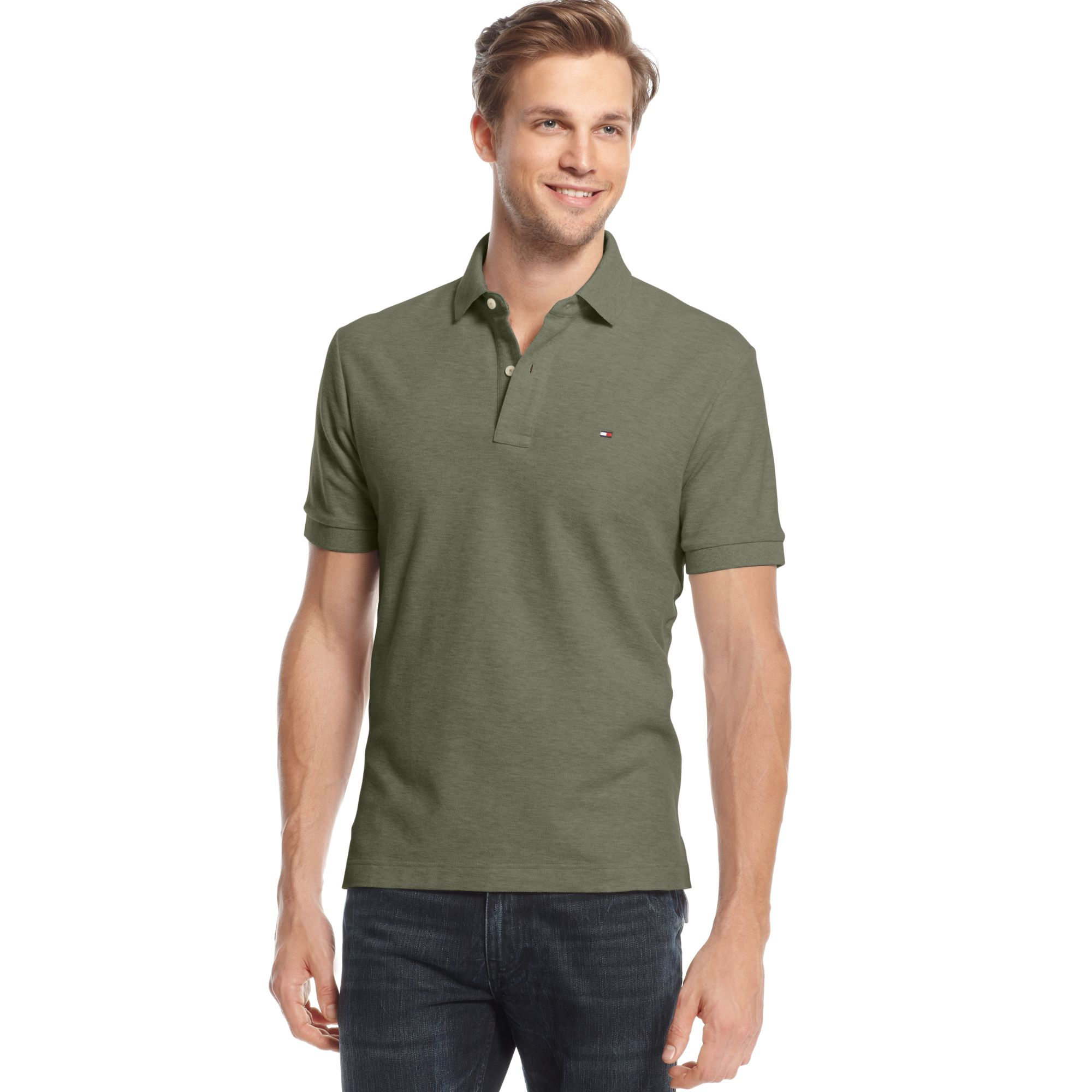 tommy hilfiger ivy polo shirt in green for men lichen green lyst. Black Bedroom Furniture Sets. Home Design Ideas