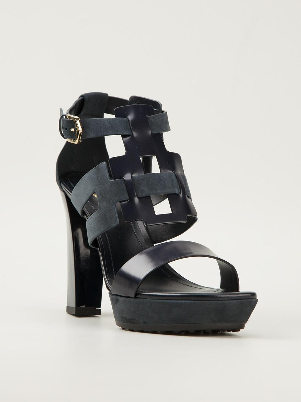 strappy platform sandals - Black Tod's 7v8VXdBF0N
