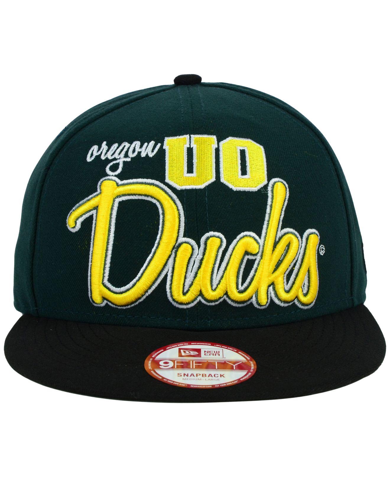 release date: 39705 6fd08 ... 50% off lyst ktz oregon ducks team script 9fifty snapback cap in green  for men
