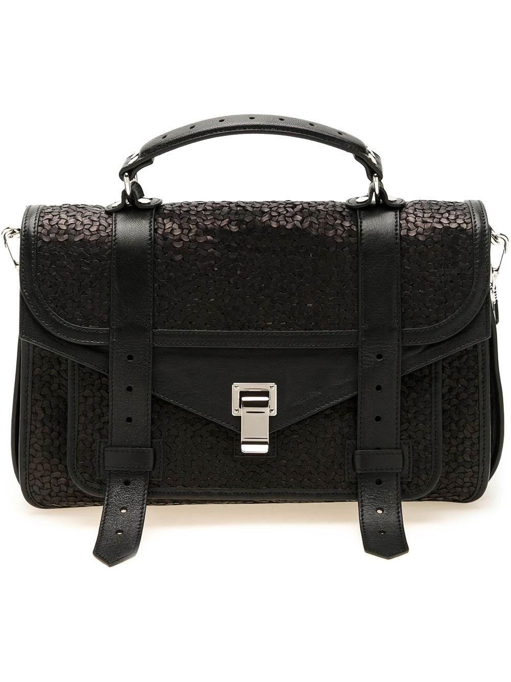 Ps1+ Textured-leather Backpack - Black Proenza Schouler 7xCsx0zD