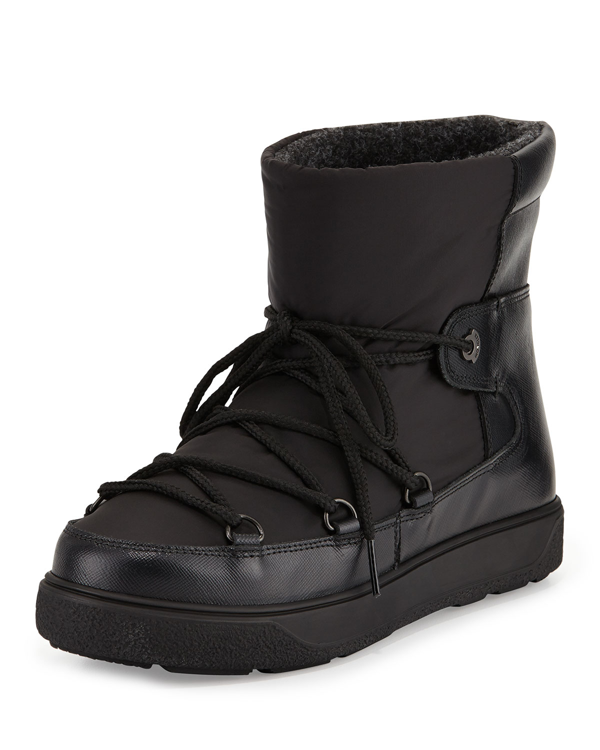 Moncler Fanny Lace Up Ankle Boot In Black Lyst