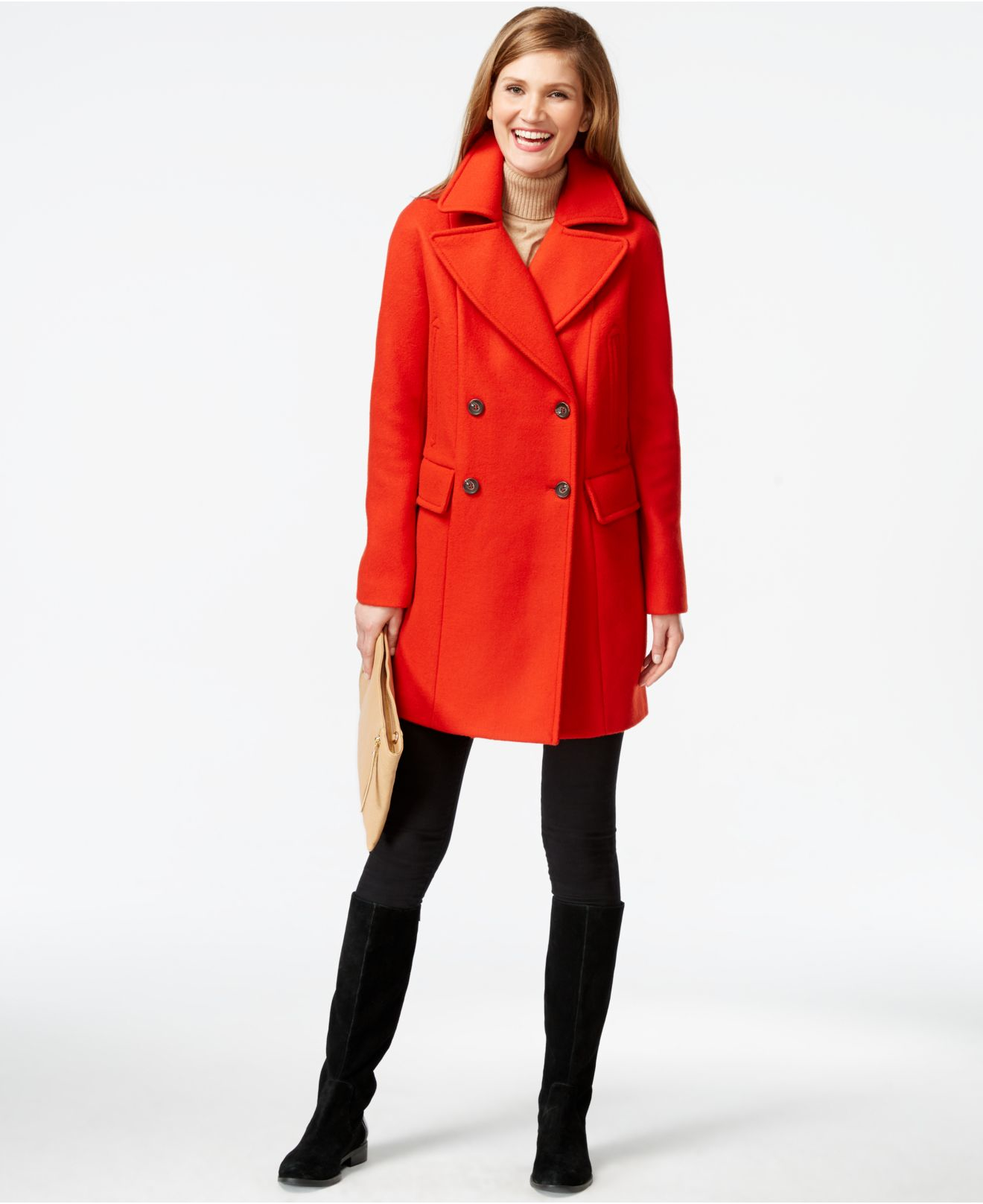 Red Pea Coats For Women - Tradingbasis