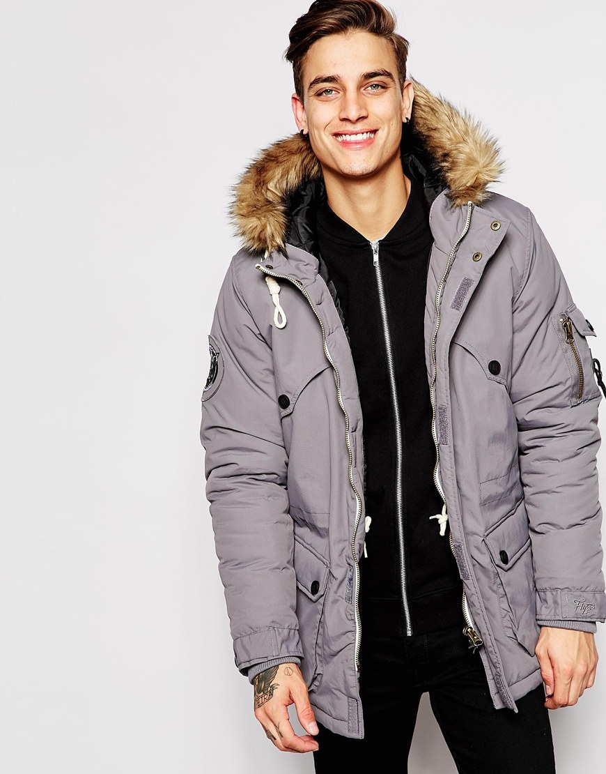 Fly 53 Parka Coat in Blue for Men | Lyst