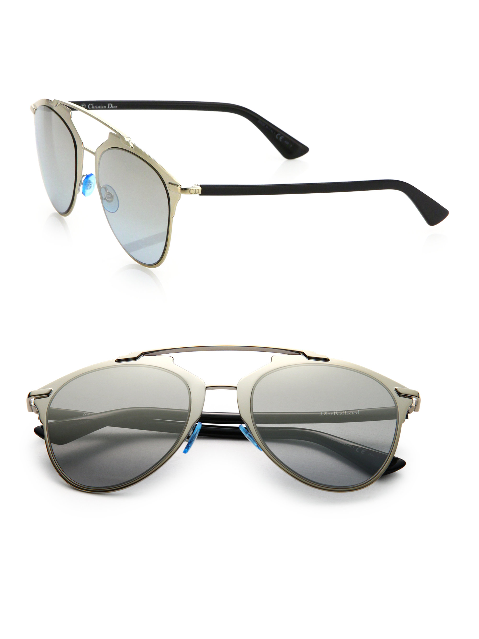 367e099ee63 Dior Reflected Sunglasses Gold And Black