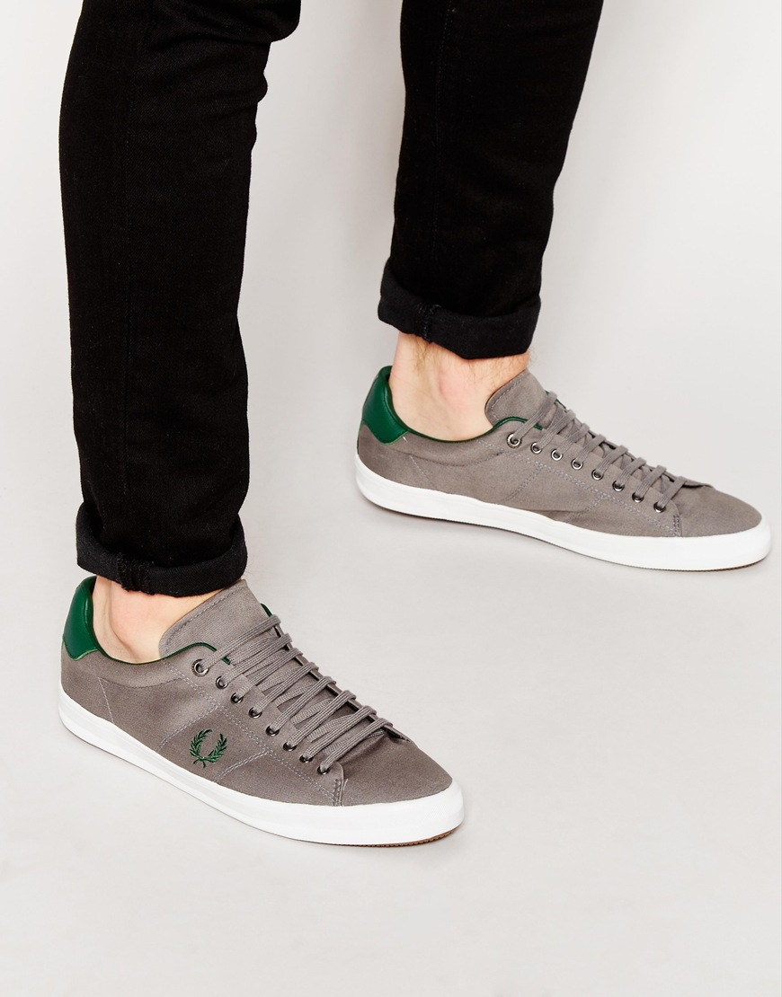 Buy Men Shoes / Fred Perry Howells Twill Plimsolls